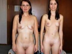 Česká máma a dcera spolu šukají v gangbangu