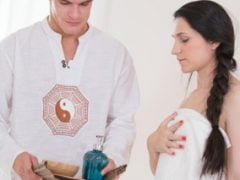 Manželka zazobance si dopřeje masáž se vším všudy