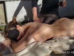 Ranní erotická masáž na sluníčku