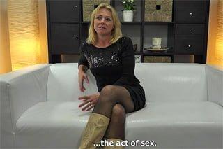 Zralá žena na castingu