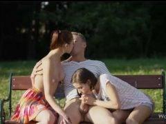 Rozdá si to v parku se dvěma Češkami