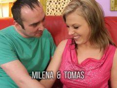 Milena a Tomáš poprvé před kamerou
